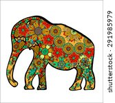 the cheerful elephant. the... | Shutterstock .eps vector #291985979