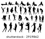 many small people silhouettes | Shutterstock . vector #2919862