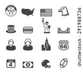 america icons  mono vector... | Shutterstock .eps vector #291988736