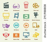 movie elements  vector... | Shutterstock .eps vector #291988808