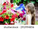 adorable little brunette kid... | Shutterstock . vector #291994856