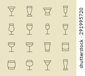 alcohol beverages icon set | Shutterstock .eps vector #291995720