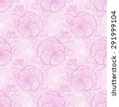 seamless floral pattern with... | Shutterstock .eps vector #291999104