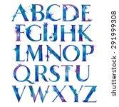 watercolor colorful alphabet... | Shutterstock . vector #291999308