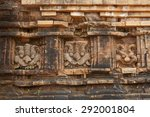 relief and ruin of hindu... | Shutterstock . vector #292001804