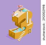 isolated high quality isometric ... | Shutterstock .eps vector #292002998