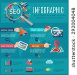 Seo Infographics Set With Huma...