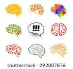 brain icon set vector... | Shutterstock .eps vector #292007876