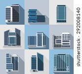 office and business buildings... | Shutterstock .eps vector #292008140