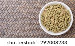cardamom spices in white bowl... | Shutterstock . vector #292008233