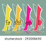 fashion backgrounds with green  ... | Shutterstock .eps vector #292008650