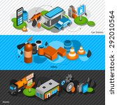 gasoline diesel fuel station...   Shutterstock .eps vector #292010564