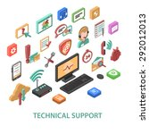 technical support concept with... | Shutterstock .eps vector #292012013