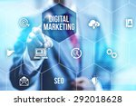 interactive digital marketing... | Shutterstock . vector #292018628