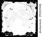 grunge halloween background... | Shutterstock .eps vector #292019408