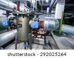 equipment  cables and piping as ... | Shutterstock . vector #292025264
