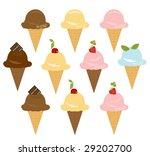 vector various flavors  ice... | Shutterstock .eps vector #29202700