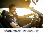 driving a car | Shutterstock . vector #292028249