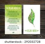 restaurant vegan menu cards... | Shutterstock .eps vector #292032728