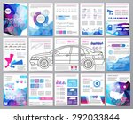 big set of infographics... | Shutterstock .eps vector #292033844