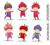 illustration of cute kids in... | Shutterstock .eps vector #292035098