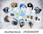 meeting communication planning... | Shutterstock . vector #292044359