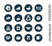 cooking icons universal set for ... | Shutterstock . vector #292048100