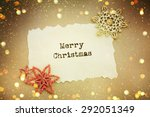 christmas card with space and... | Shutterstock . vector #292051349