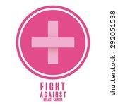 breast cancer design over white ... | Shutterstock .eps vector #292051538