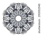 vector floral  pattern  pattern ... | Shutterstock .eps vector #292052540