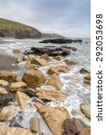 Small photo of Parc Trammel cove between porthlevel and rinsey in cornwall england uk