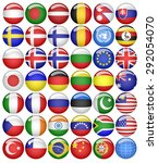 world flags collection | Shutterstock .eps vector #292054070