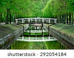 Wooden White Bridges Over Smal...