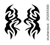 tribal tattoo vector design... | Shutterstock .eps vector #292055300
