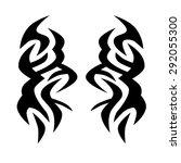 tribal tattoo vector design... | Shutterstock .eps vector #292055300