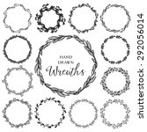 vintage set of hand drawn... | Shutterstock .eps vector #292056014