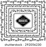 vintage decorative nature... | Shutterstock .eps vector #292056230