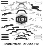 hand drawn decorative ribbon... | Shutterstock .eps vector #292056440