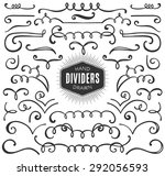 hand drawn decorative curls ... | Shutterstock .eps vector #292056593