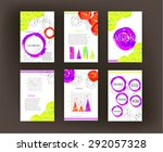 set  collection  group of... | Shutterstock .eps vector #292057328