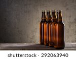 ice cold beer bottles in a row... | Shutterstock . vector #292063940