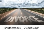 divorce written on rural road | Shutterstock . vector #292069334