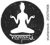 illustration of meditation in... | Shutterstock . vector #292070408
