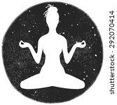 illustration of meditation in... | Shutterstock . vector #292070414