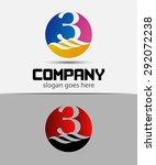 number logo design. logo 3... | Shutterstock .eps vector #292072238