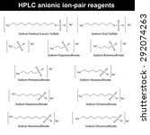 hplc anionic ion pair reagents  ... | Shutterstock .eps vector #292074263