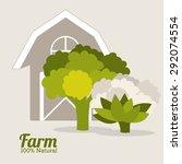 farm design over grey... | Shutterstock .eps vector #292074554