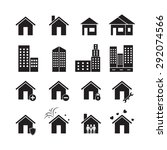 house vector  icon set | Shutterstock .eps vector #292074566