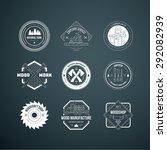 set of vintage carpentry... | Shutterstock .eps vector #292082939