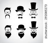 retro gentleman icon set.... | Shutterstock .eps vector #292085273